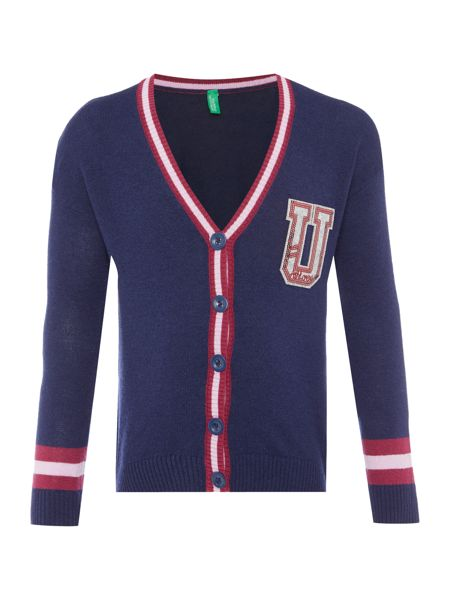Benetton Girls Sequin U Cardigan