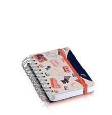 Radley Spell check navy A6 notebook