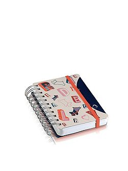 Spell check navy A6 notebook