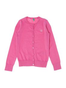 Benetton Girls Sparkle Logo Cardigan