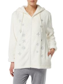 Therapy Metallic Snowflake Zip Top