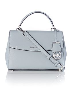 Ava blue small satchel bag