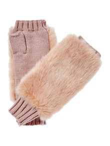Therapy Faux Fur Knitted Glove