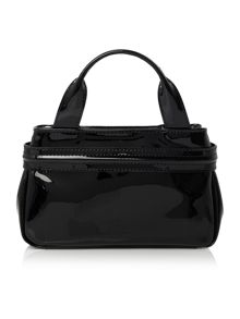 Armani Jeans Patent black small tote bag
