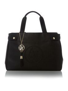 Armani Jeans Eco saff black medium tote bag