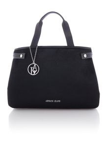 Armani Jeans Eco leather black tote bag