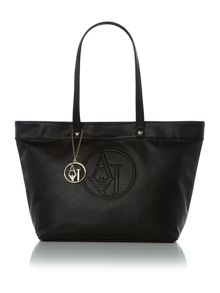 Armani Jeans Eco leather black large tote bag