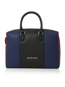 Armani Jeans Eco saff blue stripe dome bag