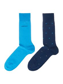 Hugo Boss 2 Pack RS Design Dot Sock