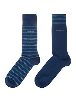 2 Pack RS Design Stripe Sock