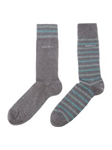 Hugo Boss 2 Pack RS Design Stripe Sock