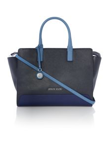 Armani Jeans Eco leather navy tote bag