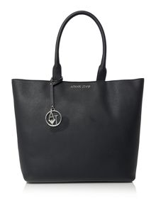 Armani Jeans Navy large saffiano tote bag