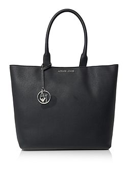 Navy large saffiano tote bag