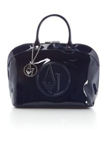 Armani Jeans Navy patent dome bag