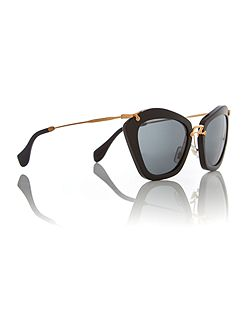 Gold cat eye MU 10NS sunglasses