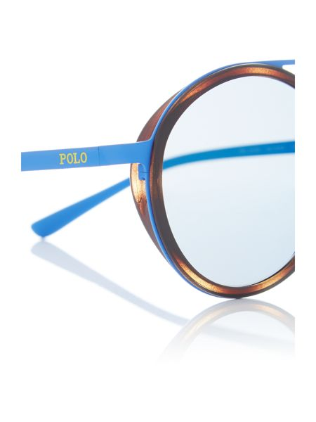Polo Ralph Lauren Matte Blue round PH3103 sunglasses