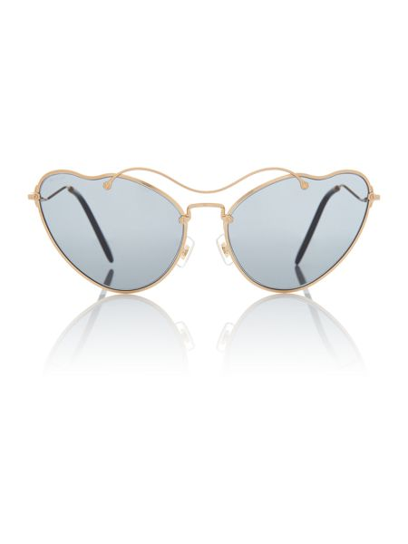Miu Miu Gold irregular MU 55RS sunglasses