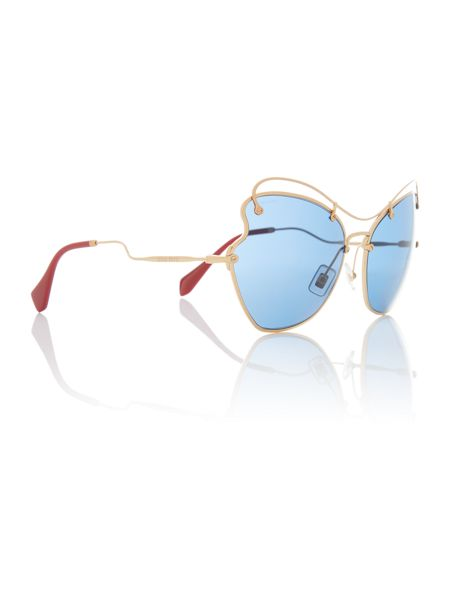 Miu Miu Gold irregular MU 56RS sunglasses