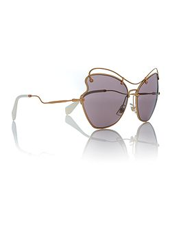 Gold irregular MU 56RS sunglasses