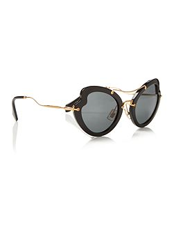 Black irregular 0MU 11RS sunglasses