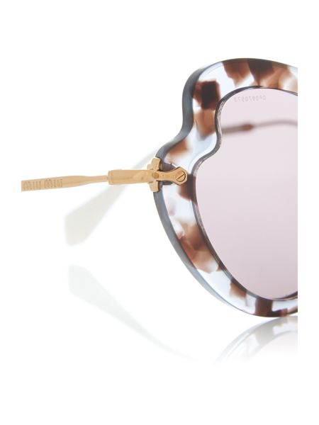 Miu Miu Lilac irregular 0MU 11RS sunglasses