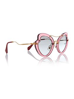Bordeaux irregular 0MU 11RS sunglasses