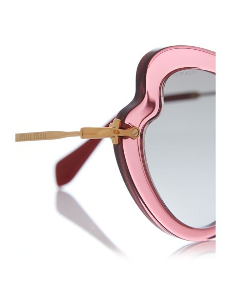 Miu Miu Bordeaux irregular 0MU 11RS sunglasses
