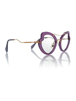 Violet irregular 0MU 11RS sunglasses