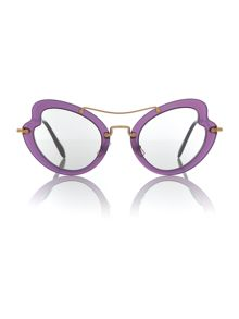 Miu Miu Violet irregular 0MU 11RS sunglasses