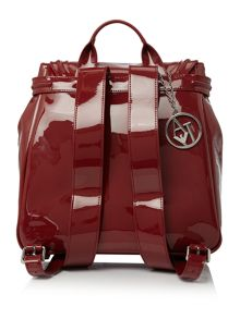 Armani Jeans Red patent backpack