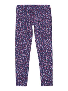 Benetton Girls Floral Print Leggings