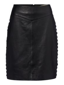 Maison De Nimes Esker Leather Skirt