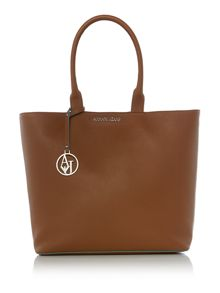 Armani Jeans Tan large saffiano tote bag
