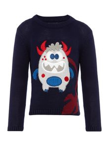 Howick Junior Boys Crew Neck Monster Jumper