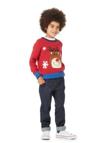 Howick Junior Boys Reindeer Christmas Jumper