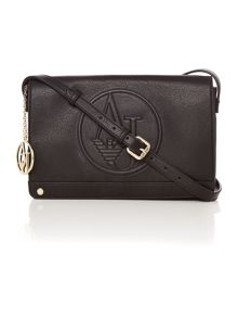 Armani Jeans Black flap over crossbody bag