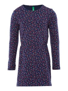 Benetton Girls Jersey Floral Dress