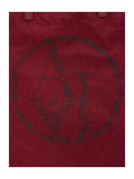 Armani Jeans Red fold up tote