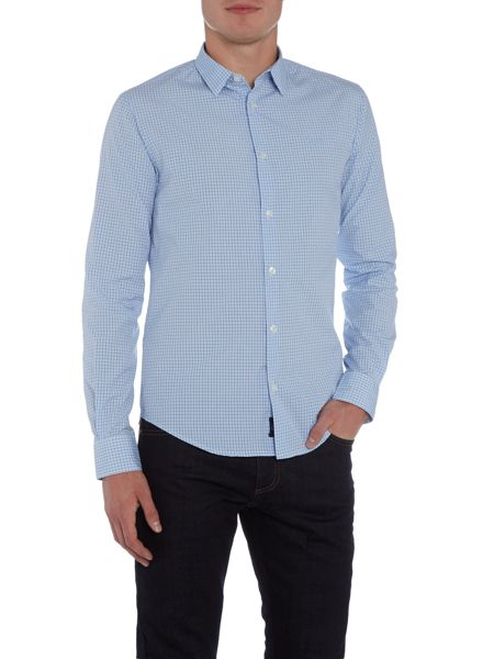 Armani Jeans Regular fit small check shirt