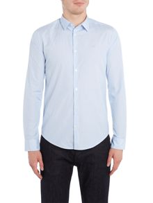 Armani Jeans Regular fit fine stripe logo shirt