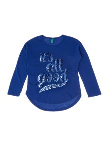 Benetton Girls Its All Good Sequin Top