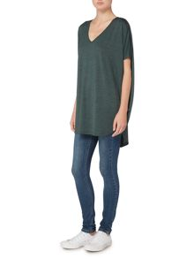 Label Lab Oversized slub cocoon top