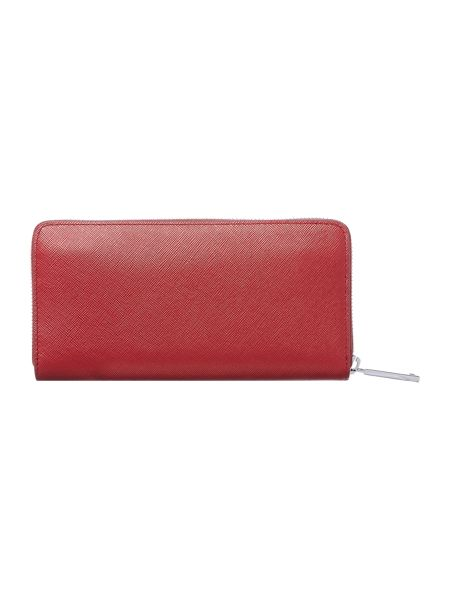 Hugo Boss Nave red large ziparound purse