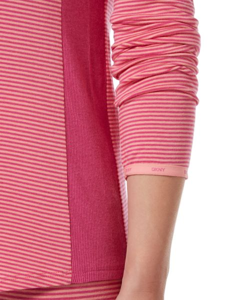 DKNY Long sleeve jet setter jersey top and leggings