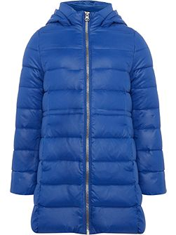 Girls Long Line Padded Coat