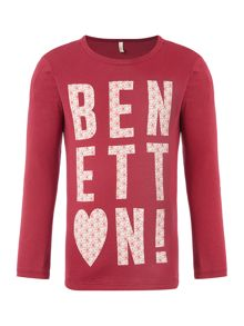 Benetton Girls Heart Top