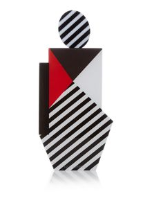 Lulu Guinness Pop out girl perspex clutch bag