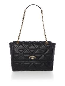 Vivienne Westwood Sharlenemania black large quilt flap over bag