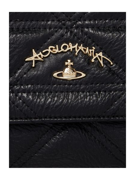 Vivienne Westwood Sharlenemania black medium quilt flap over bag
